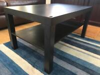 Ikea black coffee table