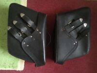 Hard Leather Custom motorcycle panniers £25 without tool roll ?