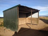 Field Shelter for horses and ponies. Steel frame on skids.