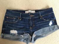 Abercrombie and Fitch denim shorts size 2 (UK size 8) they are in good condition.