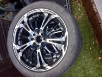 4x Dare Ghost Alloys with tyres
