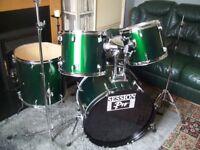 Session Pro Green drum kit £125