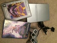 Slim silver ps2 and spyro games