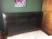 Leather headboard fir kingsize bed