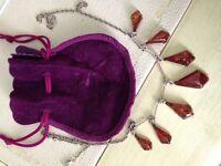 Teardrop Amber Necklace - £10