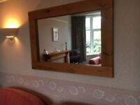 Pine surround mirror
