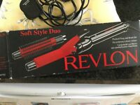 Revlon flocked tong and brush set