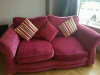 DFS sofa-bed, snuggle chair and storage footstool