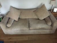 Large sofa and armchair
