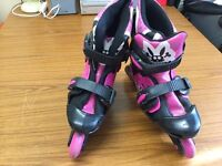 Pink and black skate shoes for children only 10