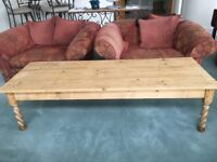 Long Light Coloured Wood Coffee Table-- Only 30 £