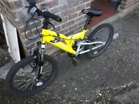Kids mountain bike with dual suspensions and 6 gears