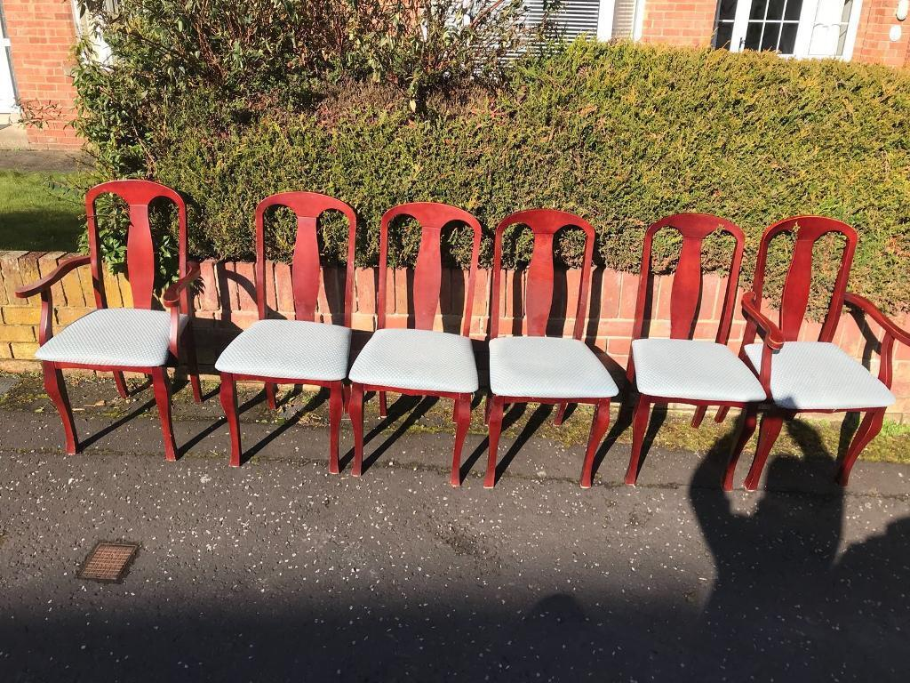6 Mahogany Rossmore Dining Room Chairs 2 Carvers Mint Condition 59