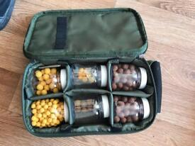 Fishing boxes with bait