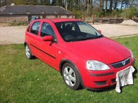 2004 CORSA C 1.3 DTCi, 5 DOOR, MAGMA RED, VGC, 3 MONTHS MOT, £30 TAX