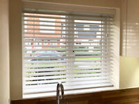 White Wood Blinds Made to Measure 115cm width & approx 100cm drop