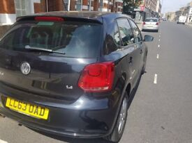 Black Volkswagen Polo Match 5 dr automatic
