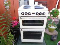 NEW HOME ELECTRIC COOKER 55 CM DOUBLE OVEN