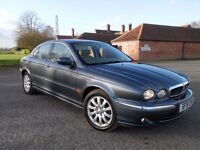 SUPERB 51 PLATE JAGUAR X-TYPE V6 SE GUNMETAL WITH CREAM LEATHER, SAT NAV & CLIMATE