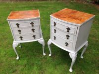 Pair of Ladies & Gentleman's Shabby Chic Bedside Cabinets