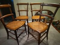 4 antique bedroom dining chairs