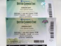 Greenday tickets x 2 Hyde park BST 1st July