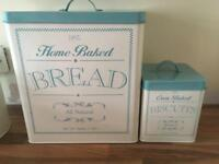 Tea sugar coffee biscuit and bread canisters
