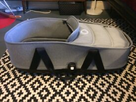 Bugaboo Bee3 - 5 Carrycot (Grey) with Carrycot base (black) with all pram fittings for SALE!