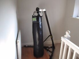 Punch Bag, Adjustable Height Punch Bag Frame, and Gloves. Delivered Today, Too Big For my Flat