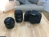 Canon 700D / Rebel T5i DSLR with 18-55mm lens PLUS the 50 mm 1.8 Lens + Extras!