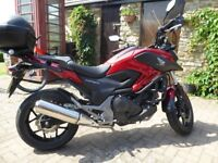 HONDA. NC 750 AX- E. IMMACULATE ONLY 908 MILES. 10 MONTHS MOT. MANY EXTRAS
