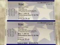 2 Wicked Theatre Tickets - London