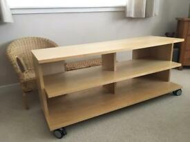 Ikea TV unit on casters