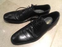 Black leather size 7 Italian shoes