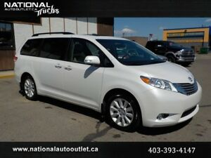 2014 Toyota Sienna Limited AWD Double Sunroof DVD 7 Passenger