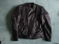 Mens Leather motor cycle jacket and trousers