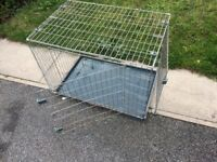 Used large pet cage 2 door