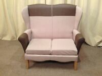 Sofa Shackleton's High Wing Back 2 Seater Sofa - Banbury Settee High Wing Back Chair