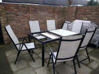 Ikea Garden Table and 8 chairs