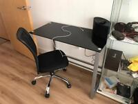 Computer table and office chair