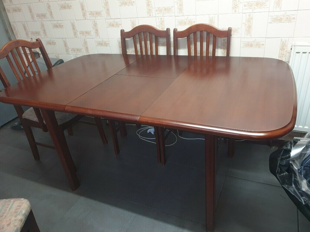 Second hand dining table and 5 chairs | in Handsworth, West Midlands | Gumtree