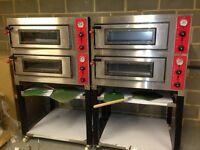 Electric Double Deck Pizza Oven, 6 x 6 =12