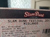Slam Dunk 2017 Ticket Birmingham NEC