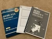 GCSE BUSINESS AQA 9-1 REVISION PACK and CGP Guide