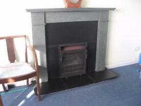 Beautiful Green Slate surround and fireplace