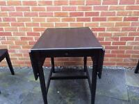 Drop leaf table and 2x chairs