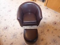 Childs Chair Brown Tub Style by Dunelm Mill