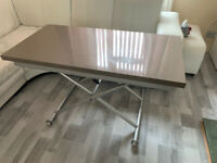 Dwell Salire Rise Extending Coffee Dining Table Stone Laquer Finish