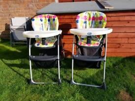 baby highchair x 2 twins?