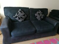 2 SEATER AND 2X 1SEATER BLACK SOFA FOR SALE EXCELLENT CONDITION. SMOKE FREE HOME .